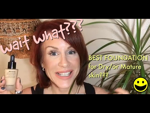 BEST FOUNDATION for DRY or MATURE SKIN?? Algenist Reveal