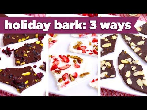 Healthier Holiday Bark – 3 Ways!  - Mind Over Munch