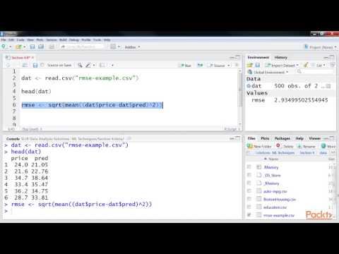 R Data Anlysis Solutn-Machine Learn Tech:Computing Root Mean Squared Error | packtpub.com