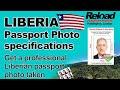 Liberian Passport Photo and Visa Photo snapped in Paddington, London