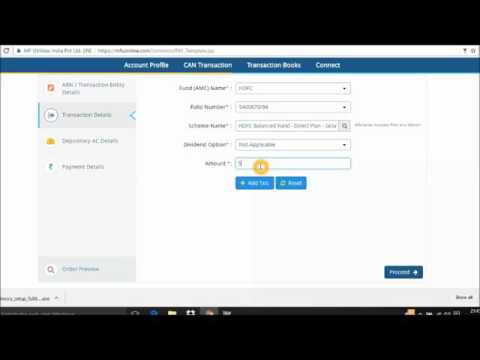 How to purchase mutual funds through MF Utility English Demo