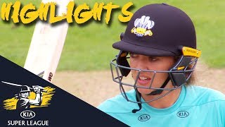 Sarah Taylor Lizelle Lee Star For Surrey Thunder V Stars Kia Super League 2018 Highlights