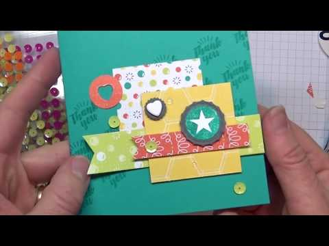Stamping 101: How to Create Collage Layering Cards with the Bubble Over Stamp Set