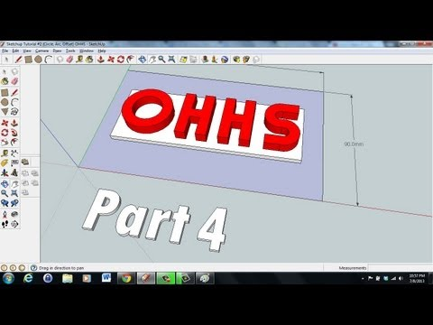 Sketchup Tutorial (2D to 3D Letters) Part 4
