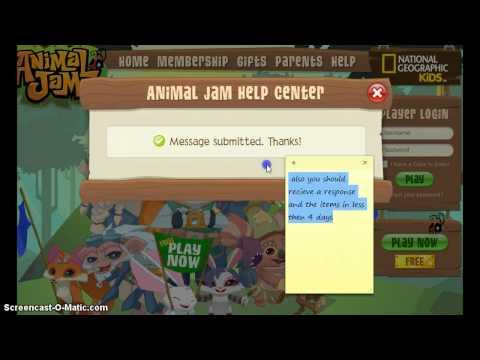 Free items animaljam