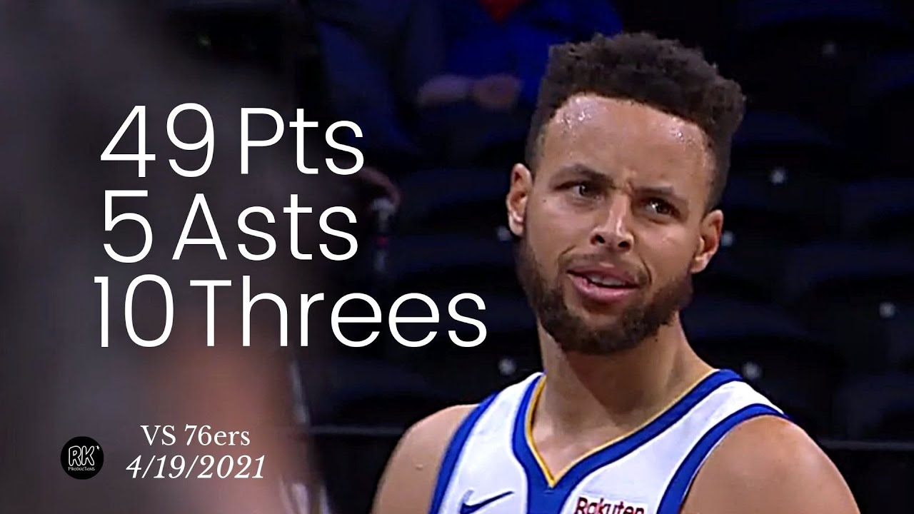 Stephen Curry 49 Pts, 5 Asts, 10 Threes vs 76ers | FULL Highlights