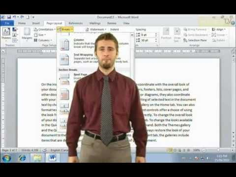 How to use Section Break in Microsoft Word 2010 (Online Tutorials)