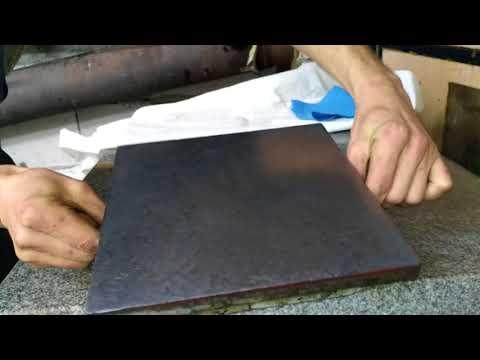 ...-=Scraping of the test plate=- Шабрение поверочной плиты