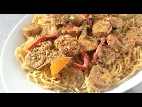 Sausage, Peppers, & Onions Pasta | How to Make a White Wine Reduction Cream Sauce