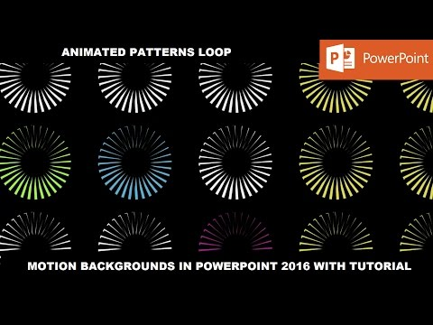 Animated Complex Patterns   Motion Backgrounds in PowerPoint 2016 Tutorial
