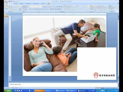 How to: Powerpoint 2007 Cropping and Image and transparent background