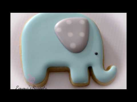 How to Make an Elephant Cookie by Emma's Sweets