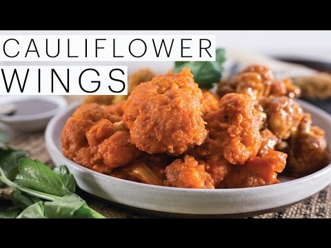 Buffalo CAULIFLOWER WINGS | Vegan Ranch Dip | VEGAN Buffalo Sauce | Cauliflower Bites | The Edgy Veg