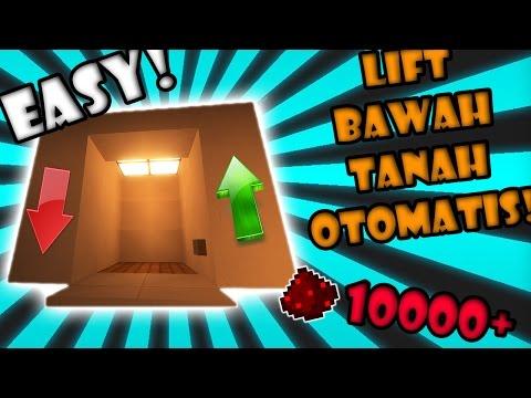 CARA Bikin ELEVATOR Bawah Tanah OTOMATIS!  - Final FULL REDSTONE Minecraft Indonesia #13