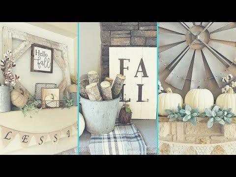 ❤ DIY Shabby chic style Fall Mantle decor Ideas ❤   Home decor & Interior design  Flamingo mango 