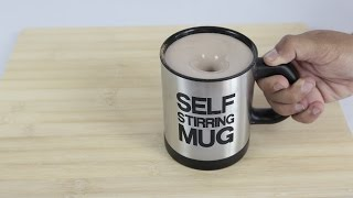 FOR LAZY PEOPLE! Self Stirring Mug - Gadgets TEST
