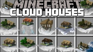 Minecraft CLOUD HOUSE MOD / TRAVEL TO THE FROZEN KINGDOM IN THE CLOUDS!! Minecraft