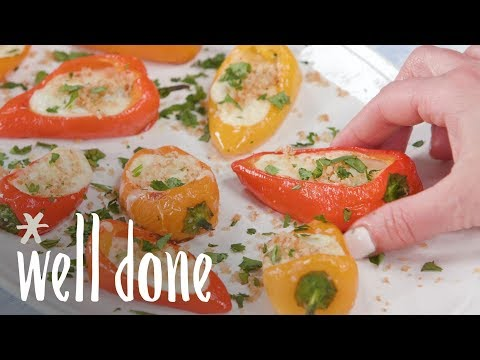 How to Make Queso-Filled Mini Peppers | Recipe | Well Done