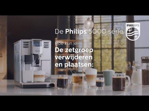 Philips EP5365 Espressomachine 5000serie Hoe gebruik ik de zetgroep