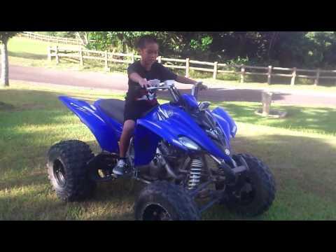 Kazes first time riding the quad