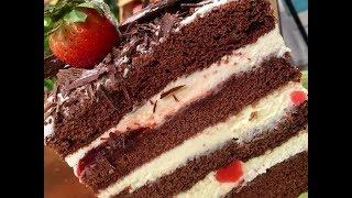 Torta selva negra desnuda por Mirta Carabajal
