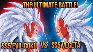 Dragon Ball Z (AF): Super Saiyan 5 Evil Goku VS Super Saiyan 5 Vegeta