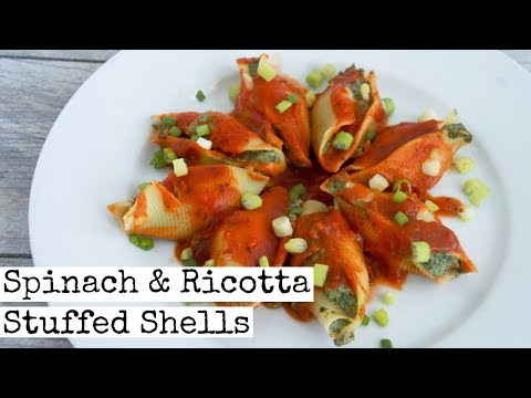Spinach and Ricotta Stuffed Shells | Vegan