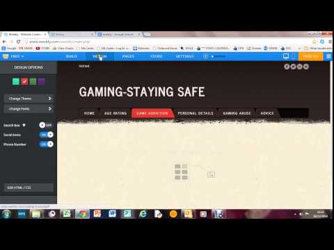 Video 16- Creating A Weebly Website- Gaming Online Safely