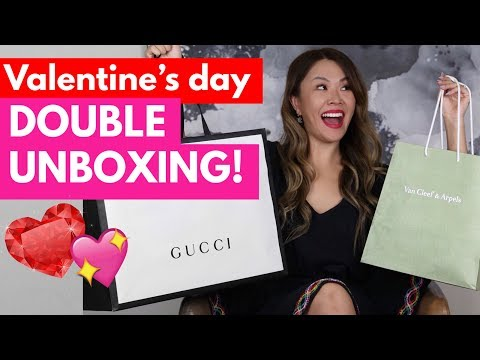 WHAT I GOT FOR VALENTINES DAY - GUCCI, VAN CLEEF & ARPELS UNBOXING!
