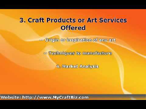 Arts and Crafts Business Plan Key Writing Elements
