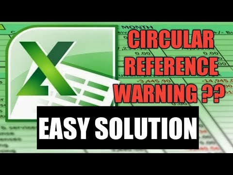 Circular reference warning in excel - Easy Solution by Cool Trick
