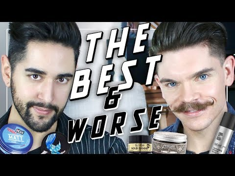 Men's Hair Styling Products - The Best + The Worst! PART 1 ft Robin James  ✖ James Welsh