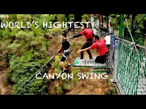 The World's Highest Giant Swing - NEPAL (160m High at 150km/hr)