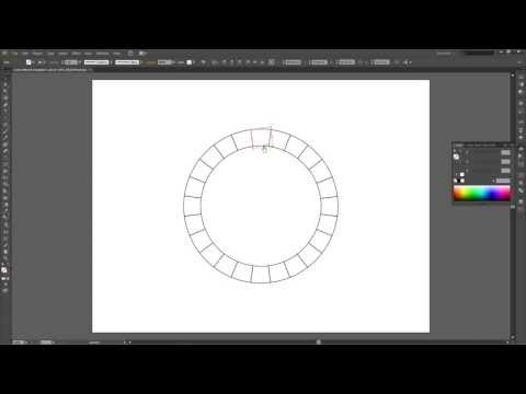 How to create a color wheel template in Adobe Illustrator CS6