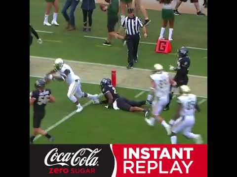 Watch this USF player drag a guy right into the end zone
