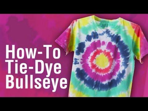 How-to Tie Dye a Shirt Bullseye Technique