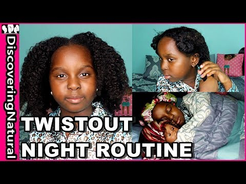Night Routine for Natural Hair Twistout
