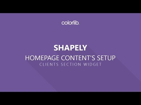 Clients Section Setup For Shapely WordPress Theme [Homepage Setup]
