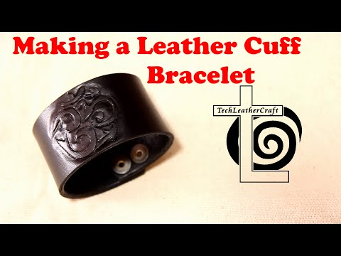 Making a Leather Cuff Bracelet - Tooling Leather