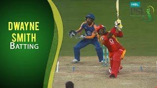 PSL 2017 Match 20: Karachi Kings vs Islamabad United - Dwayne Smith Bating