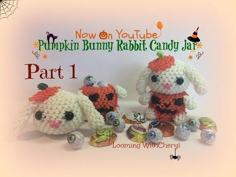 Rainbow Loom Pumpkin Bunny Rabbit Part 1 of 2 - loomigurumi / Amigurumi Hook Only Лумигуруми
