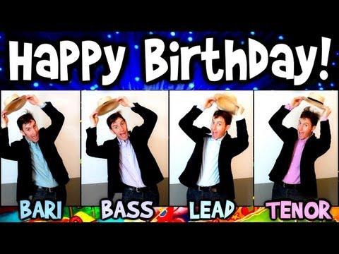 Happy Birthday - A Cappella Barbershop Quartet