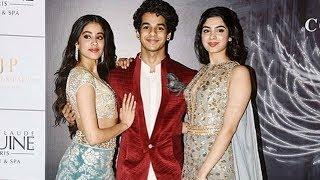 Janhvi Kapoor, Ishaan Khatter, Khushi Kapoor Pose Together At Manish Malhotra Fashion Show 2018