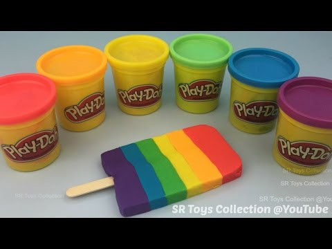 How to Make Play Doh Ice Cream in Rainbow Colours Fun for Kids