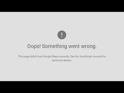 Google Maps API error: MissingKeyMapError [SOLVED]