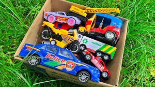 I found a box full of toy vehicles from the jungle and then reviewed it