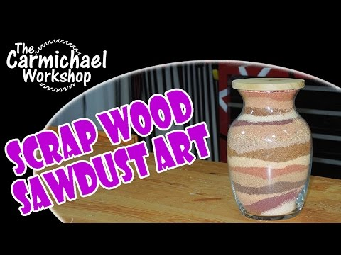 Scrap Wood Sawdust Art - Scrap Bin Challenge 2014