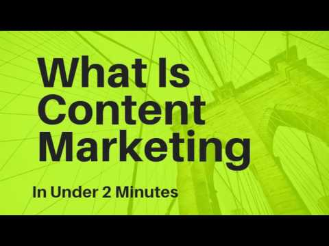 What Is Content Marketing In Under 2 Minutes