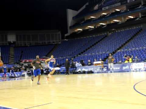 New York Knicks train at the o2 in London