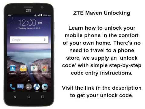 How to enter unlock code zte -